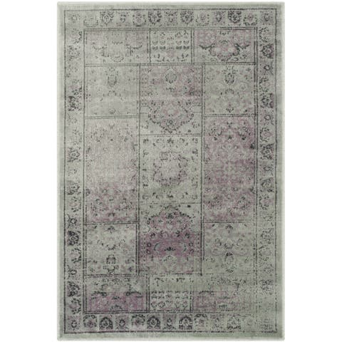 Safavieh Vintage Amethyst Distressed Panels Silky Viscose Rug - 2' x 3'