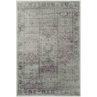 Safavieh Vintage Amethyst Distressed Panels Silky Viscose Rug (2' x 3') - 2' x 3'
