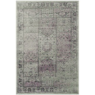 Safavieh Vintage Amethyst Distressed Panels Silky Viscose Rug (2' x 3')