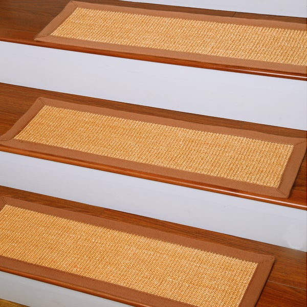Exceptionnel Natural Area Rugs Handcrafted Oscar Natural Fiber Sisal Carpet Stair Tread  (Set Of 13)