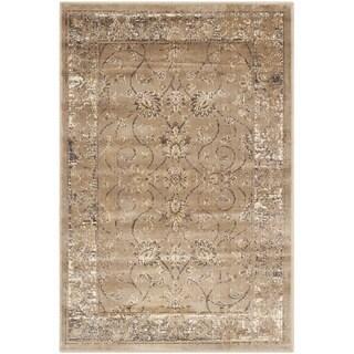 Safavieh Vintage Oriental Taupe Distressed Silky Viscose Rug (2'7 x 4')