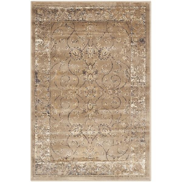 Shop Safavieh Vintage Oriental Turquoise Distressed Silky: Shop Safavieh Vintage Oriental Taupe Distressed Silky