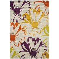 Safavieh Porcello Contemporary Floral Light Grey/ Multi Rug - 5'2 x 7'6