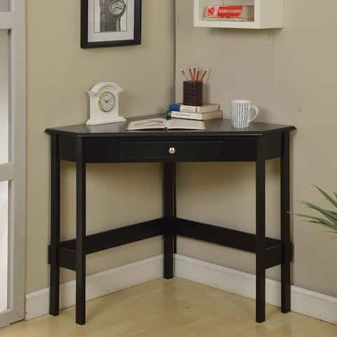 Contemporary Wood 1-drawer Corner Desk