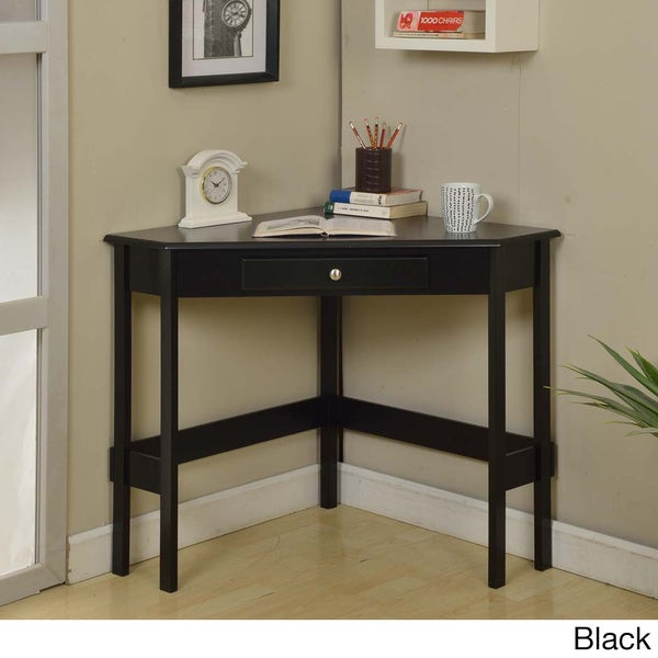 Contemporary Wood 1-drawer Corner Desk - Free Shipping Today