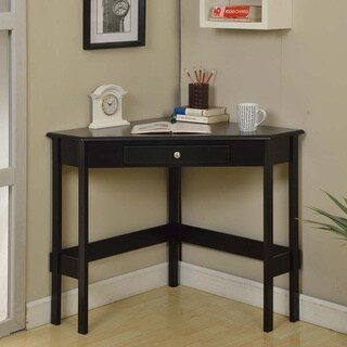 Contemporary Wood 1-drawer Corner Desk (2 options available)