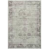 Safavieh Vintage Oriental Grey/ Amethyst Distressed Silky Viscose Rug (5'3 x 7'6)