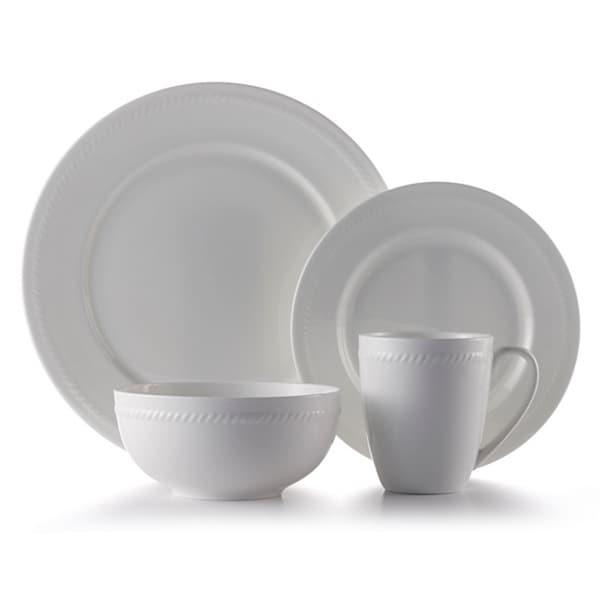 Shop Roscher Braid Bone China 32-piece Dinnerware Set - Free ...