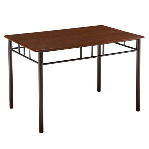Cherry wood metal dinette table free shipping today for Dining room tables home goods