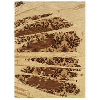 Linon Florence Beige and Brown Area Rug (5' x 7')