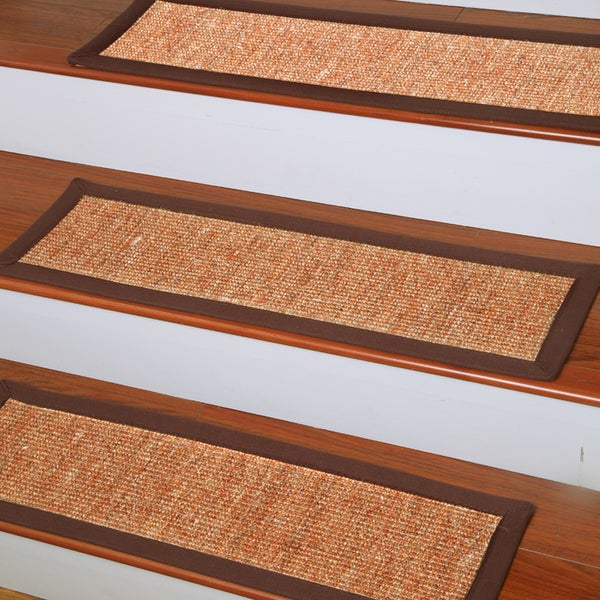 natural area rugs handcrafted origins natural fiber sisal carpet stair tread u00279 x 2 - Natural Area Rugs