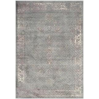 Safavieh Vintage Oriental Grey Distressed Silky Viscose Rug (5'3 x 7'6)