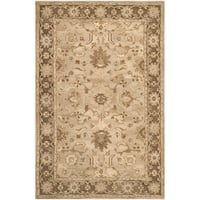 Safavieh Handmade Anatolia Oriental Light Grey/ Dark Brown Hand-spun Wool Rug - 6' x 9'