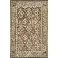 Safavieh Handmade Anatolia Oriental Brown/ Beige Hand-spun Wool Rug - 6' x 9'