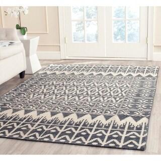 Safavieh Hand-knotted Kenya Charcoal Wool Rug (6' x 9')