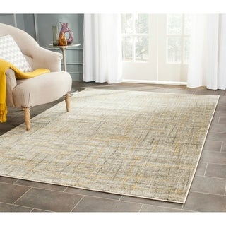 Safavieh Porcello Modern Abstract Grey/ Gold Rug (6' x 9')