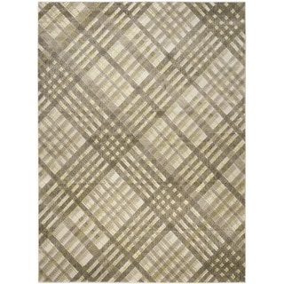 Safavieh Porcello Modern Grey/ Green Rug (6' x 9')