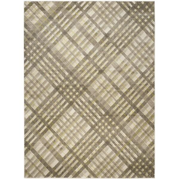Safavieh Porcello Modern Grey/ Green Rug (6' x 9')