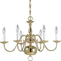 Progress Lighting 6-light Chandelier Lighting Fixture - Gold