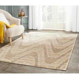 Safavieh Porcello Modern Waves Grey/ Dark Grey Rug (6' x 9')