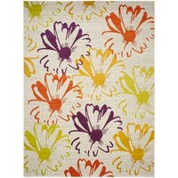 Safavieh Porcello Contemporary Floral Light Grey/ Multi Rug - 6' x 9'