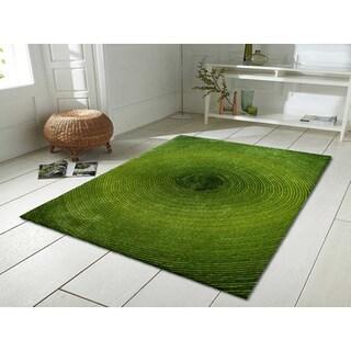 Green Artistry Circle Rug (8' x 10')