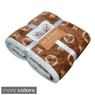 Bowser Print Micro Plush Sherpa-backed Pet Blanket