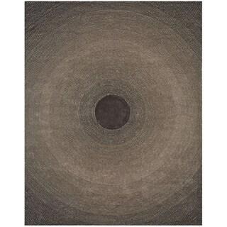 Grey Artistry Circle Rug (8' x 10')
