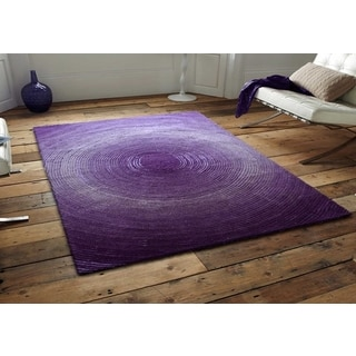 Purple Artistry Circle Collection Rug (8' x 10')