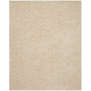 Vivoli White and Beige Shag Rug (8' x 10')