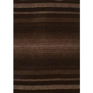 Brown/ Beige Artistry Striped Rug (8' x 10')