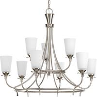 Progress Lighting 9-light, 2-Tier Chandelier Lighting Fixture