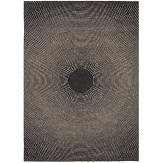 Grey Artistry Circle Rug (5' x 7')