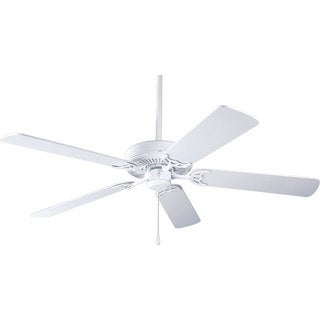 Progress Lighting Airpro Builder 52-inch 5-Blade White Ceiling Fan Lighting Fixture