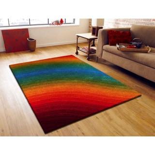 Rainbow Artistry Quarter Circle Rug 8 X 10 Free