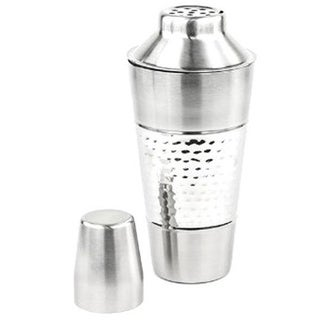 Prime Pacific 3-piece Hammered Stainless Steel Shaker with Strainer and Cap Set