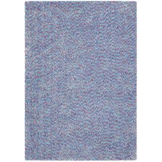 Vivoli Purple/ Blue Shag Rug (5' x 7')