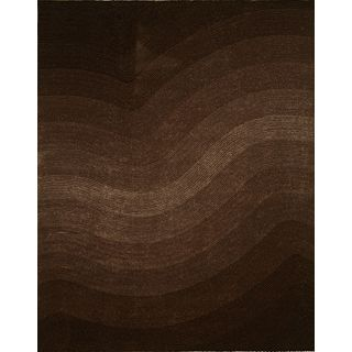 Brown Artistry Waves Rug (8' x 10')
