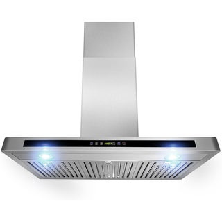 AKDY 36-inch OSWRH503A-36-AG Wall Mount Stainless Steel Range Hood