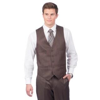 Kenneth Cole Creme Label Men's Slim Fit Brown Vest