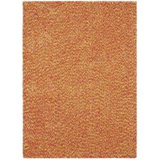 Vivoli Yellow/ Pink/ Orange Shag Rug (5' x 7')