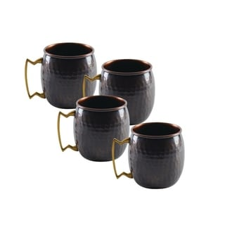 Antique Copper Mug Shooter (Set of 4)