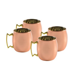 10 Strawberry Street Classic Copper Mug Shooters (Set of 4)