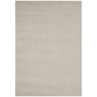 Alliyah Hand-loomed Beige New Zeeland Wool Rug (5' x 8')