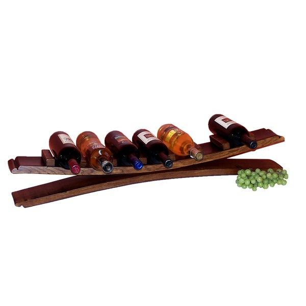 Seven-bottle Stave Display Wine Holder