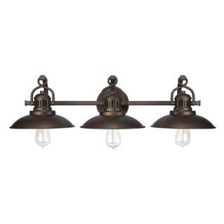 Urban Retro 3-light Vanity in Burnished Bronze