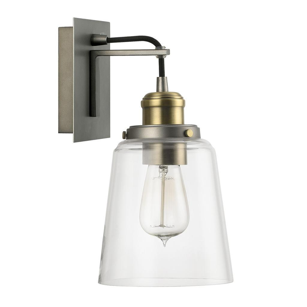 Shop Urban 1 Light Graphite With Aged Brass Wall Sconce Overstock 9368410