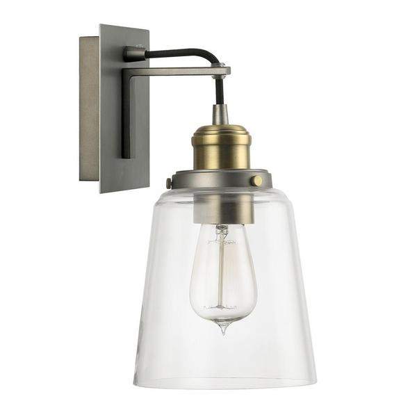 Bathroom Sconces Overstock capital lighting urban collection 1-light graphite with aged brass