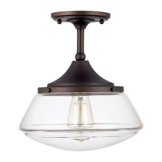 capital lighting retro school house collection 1light burnished bronze flushmount - Capital Lighting
