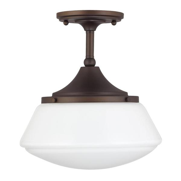 Amazing Shop Capital Lighting Retro School House Collection 1 Light Burnished  Bronze Flushmount   On Sale   Free Shipping Today   Overstock   9368415